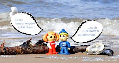 sprechblaase Cuxhaven erfischend