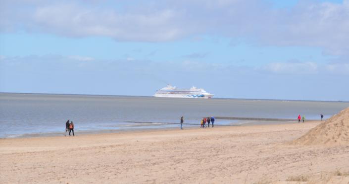 Aida vom Strand aus