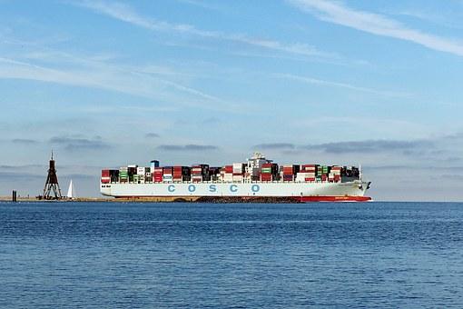Kontainerschiff Kugelbake CuxhavenKontainerschiff Kugelbake Cuxhaven